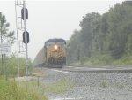 CSX T085 in rain!